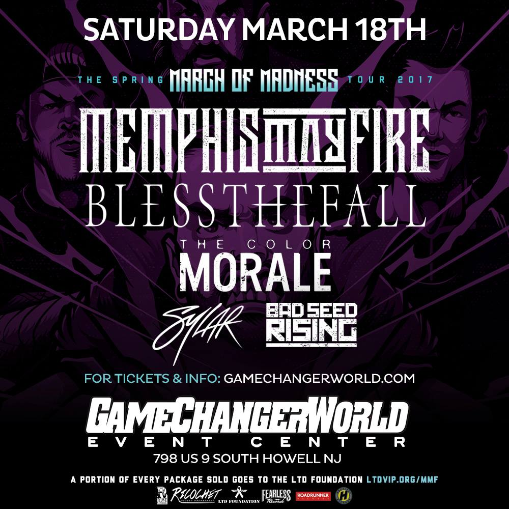 Memphis May Fire w/ Blessthefall - The Color Morale - Sylar - Bad Seed Rising