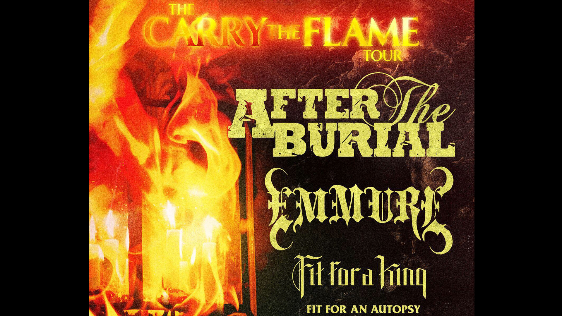 After The Burial w/ Emmure - Fit For A King - Fit For An Autopsy - Invent Animate