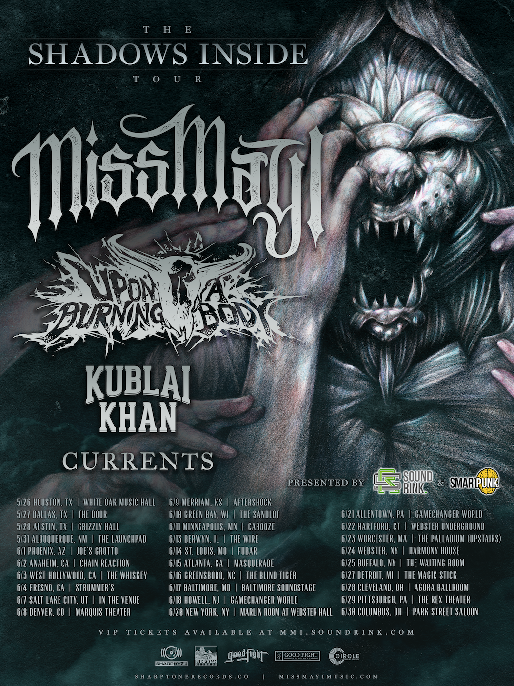 Miss May I w/ Upon A Burning Body - Kublai Khan - Currents