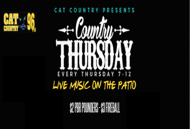 Country Thursday Featuring CODY ALLEN TEMPLETON
