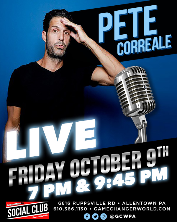 PETE CORREALE @ THE SOCIAL CLUB (7:00PM  EARLY SHOW)